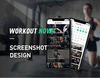 Workout Now - Screenshot Design & UI Design