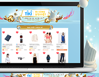 Tiki - Tiki Đi Cùng Sao Việt Landing page