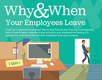 Why and When Your Employee Leave Infographic