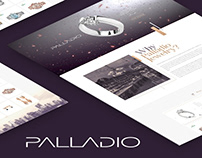 Jewelry brand Palladio / website / landing page / UI/UX