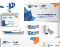 TRAD/GNP - Papelería y redes sociales