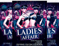Ladies Affair – Premium Flyer Template + Facebook Cover