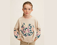 MANGO GIRLS -Flowers embroidery