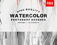 25 Watercolor Photoshop Brushes (Free)