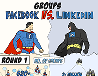 Facebook vs LinkedIn Groups Infographic