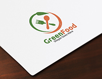 Green Food Logo Template