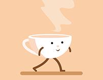 Coffe Mug Character 2d Animation