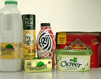 Dairy crest Products 3d visualization