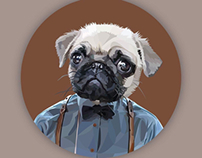 Pet personalities - digital dog illustrations