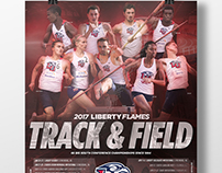 Liberty University 2017 Track and Field Poster