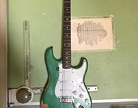 Saucy Sally - Fender Squire Strat - Relic w/overspray