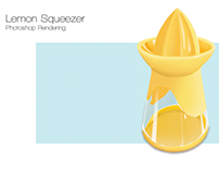 Photoshop Rendering of Lemon Squeezer