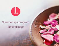 Summer spa program landing page (Eng & Rus)