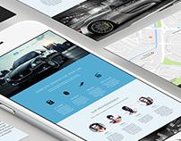 Auto-service landing page design.