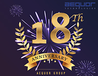 Creative Design - 18th Anniversary of Aequor Group.