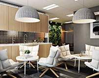 3D Renderings for a Gorgeous Interior Office Design