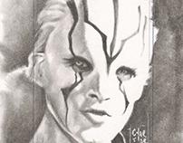 Star Trek art cards