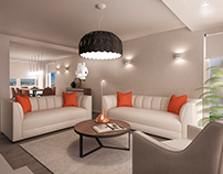 Residential Interior Design - Living Room