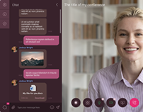 Browser Video Messenger. UX, UI