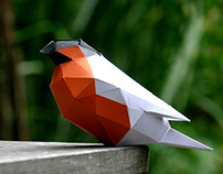 Facetted paper bird