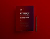 A 4 size letterhead design