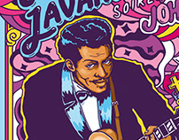 Wallpaper - Chuck Berry's tribute, Super Lavande - 2017