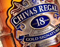3D bottle of Chivas Regal 18
