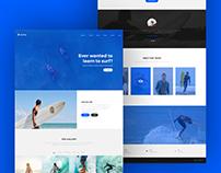 Surfing School Website Design