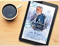 Claus Music Flyer Template /+Facebook timeline/