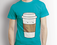Cup and Donut illustration Made with Illustrator