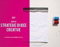 STRATEGIE DI IDEE CREATIVE -CORSO