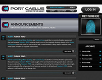 Port Caelus City Branding