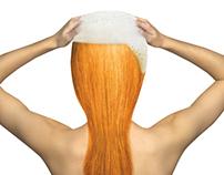 Orzene beer shampoo