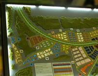 """Architectural modell """"Neuhausen"""" M 1:1000"""