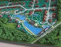 """Architectural modell """"Likino"""" M 1:750"""
