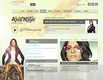 Amal Maher official website layout