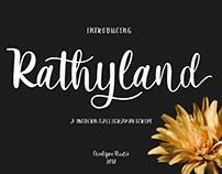Rathyland Calligraphy Font