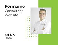 Consultant UI UX | Formame Website