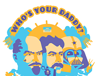 """WHO`S YOUR DADY"" PRINT"
