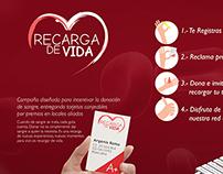 Recarga de Vida (campaña para donar sangre)