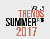 Fashion Trends For Summer 2017