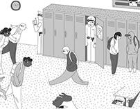 Illustration for Shameless mag