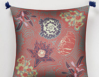 Sublimated pillow photomontage for Love-Tigre