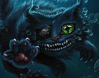 Sea pirate cat illustration