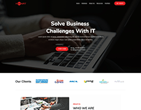 Website Re-design Video Solutions Company Landing Page