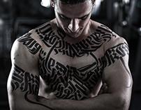 calligraphy bodybuilding