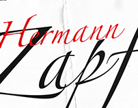 Hermann Zapf Typographic Poster