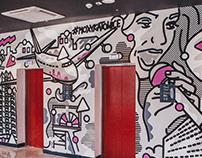 MURAL MOXY HOTEL Moxy Katowice Airport