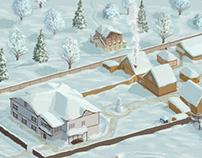 """Peshkovo"" village hall. Contacts page / navigation map"