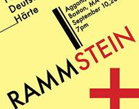 Rammstein Concert Poster